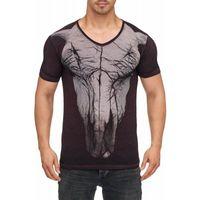 Tazzio Fashion Herren T-Shirt mit Frontprint Fuchsia 001