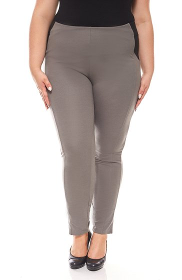 sheego jeggings pantalon jersey femme Grandes tailles Taille courte Gris