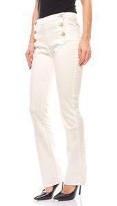 B.C. Best Connections modische Damen Bootcut Jeans Kurzgröße Weiß – Bild 1
