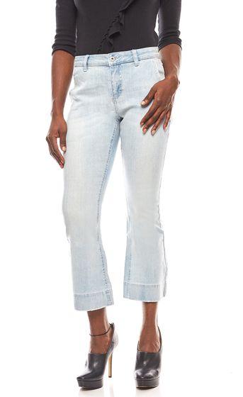 rick cardona womens flared jeans light blue