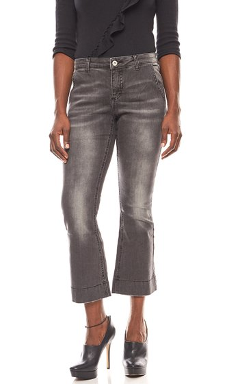 BC Best Connections shortened womens flared jeans Black