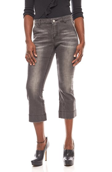 BC Best Connections shortened ladies flared jeans gray