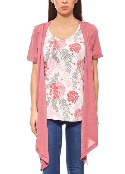 BOYSEN'S schicke 2 in 1 Damen Shirt & Jacke Altrosa