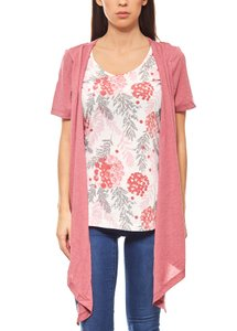 BOYSEN'S schicke 2 in 1 Damen Shirt & Jacke Altrosa 001