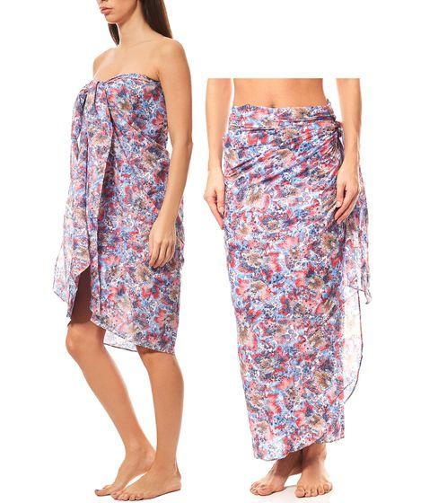 MAUI WOWIE gemusterter Pareo Strand-Kleid Rock Bademode Bunt