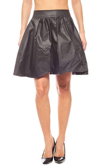 jupe évasée de quartier en mini style noir