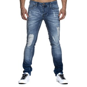 Tazzio Fashion sportliche Herren Jeans im Used-Look Blau