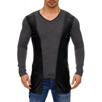 Tazzio Fashion Herren Sweatpullover Anthrazit 001