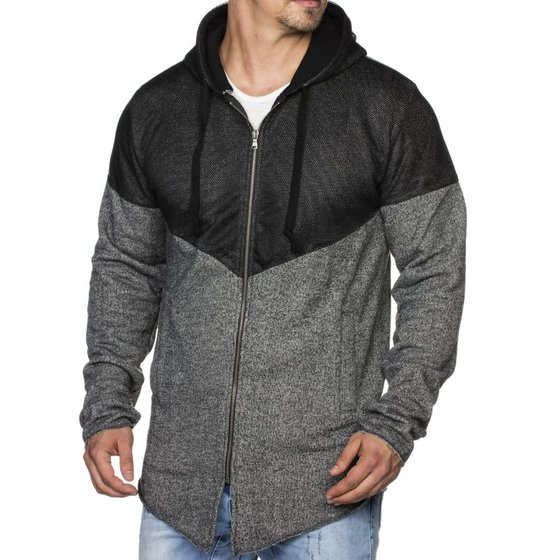 Tazzio Fashion Herren Sweatpullover Anthrazit