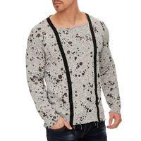 Tazzio Fashion Herren Sweatpullover Grau