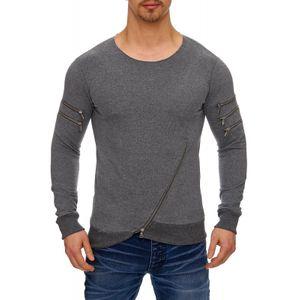 Tazzio Fashion Herren Sweatpullover Anthrazit 001