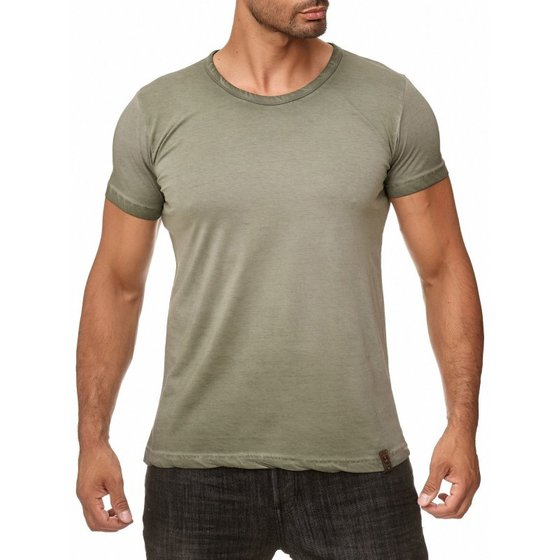 Tazzio Fashion Herren T-Shirts Khaki