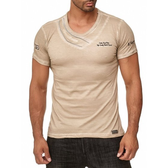 Tazzio Fashion Herren T-Shirts Stein
