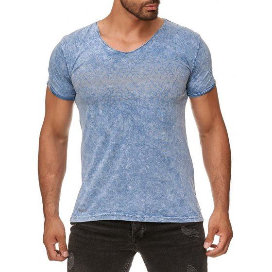Tazzio Fashion Herren T-Shirts Blau