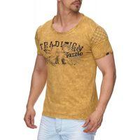 Tazzio Fashion Herren T-Shirts Mustard 001