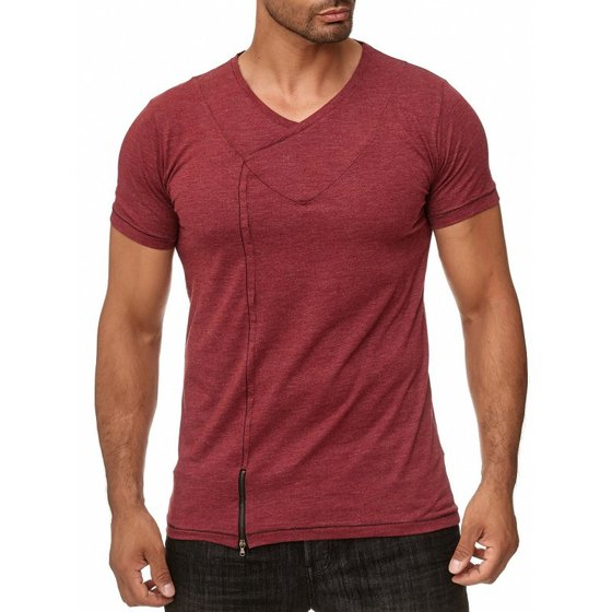 Tazzio Fashion Herren T-Shirts Bordeux