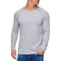 Tazzio Fashion Herren Sweatpullover Grau 001