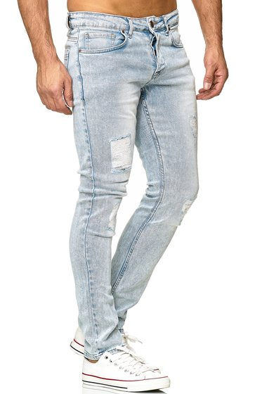Tazzio Fashion Herren Jeanshosen Light Blue