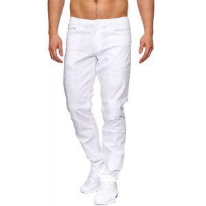 Tazzio Fashion Herren Jeanshosen Weiss 001