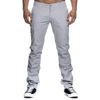 Tazzio Fashion sportliche Herren Chino-Hose Grau