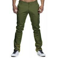 Tazzio Fashion sportliche Herren Chino-Hose Khaki 001