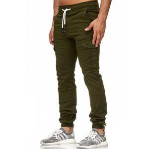 Tazzio Fashion Herren Chinos Hose Sneaker-Jogger Kahki – Bild 2