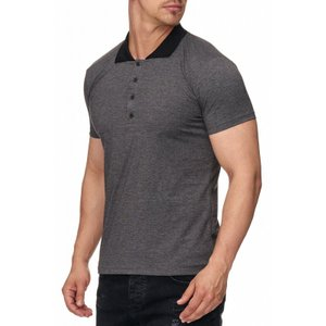 Tazzio Fashion eng anliegendes Herren Polo-Shirt Anthrazit