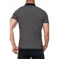 Tazzio Fashion eng anliegendes Herren Polo-Shirt Anthrazit