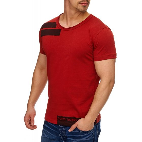 Tazzio Fashion Herren T-Shirts Bordeaux