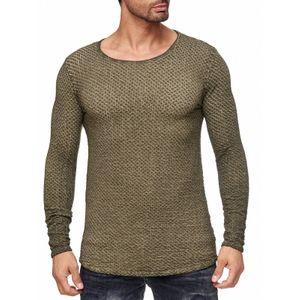 Tazzio Fashion Herren Pullover Khaki 001