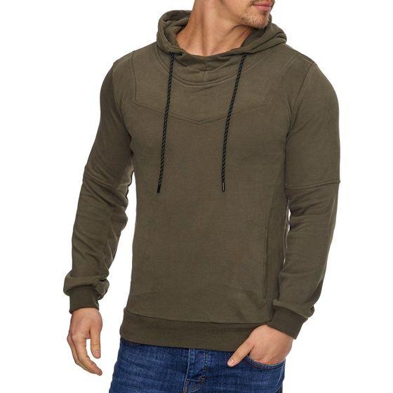 Tazzio Fashion Herren Sweatpullover Hoodie Khaki