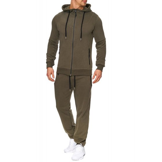 Tazzio Fashion Herren Trainingsanzug Khaki