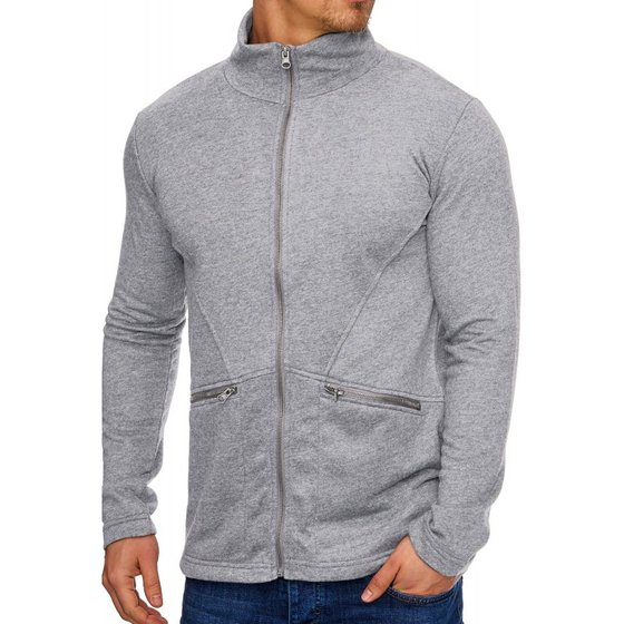 Tazzio Fashion Herren Sweatjacken Grey
