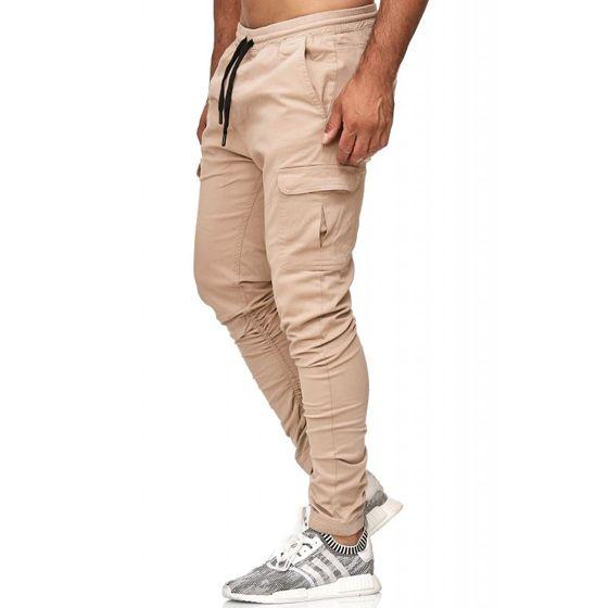 Tazzio Fashion Herren Jogginghosen Beige