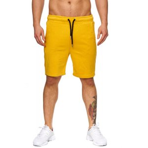 Tazzio Fashion Herren Bermudas & Shorts Mustard-Yellow