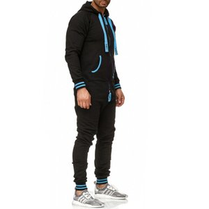 Tazzio Fashion Herren Jumpsuit Schwarz -Türkis – Bild 2