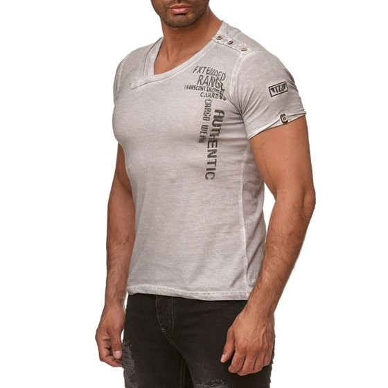 Tazzio Fashion Herren T-Shirts Grau