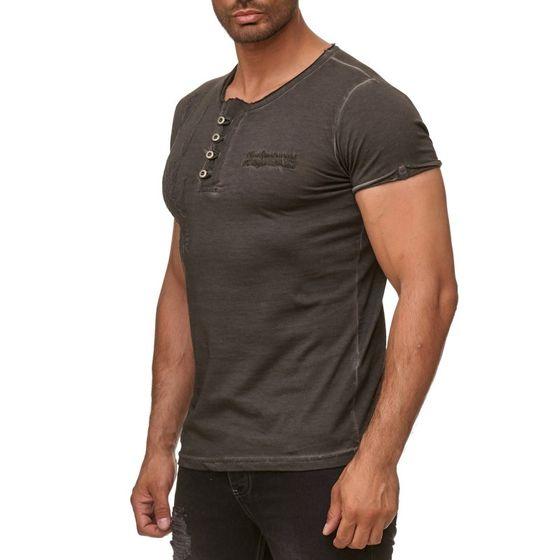 Tazzio Fashion Herren T-Shirts Anthrazit