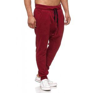 Tazzio Fashion Herren Jogginghose Bordeaux – Bild 2