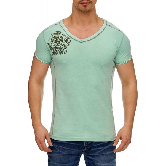 Tazzio Fashion Herren T-Shirts Mint