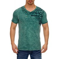 Tazzio Fashion Herren T-Shirts Petrol