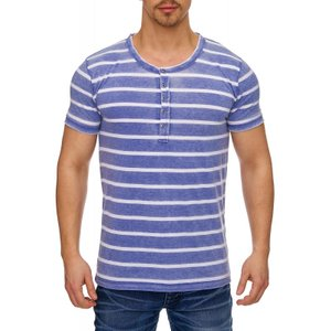 Tazzio Fashion Herren T-Shirts Indigo