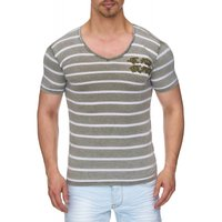 Tazzio Fashion Herren T-Shirts Khaki 001