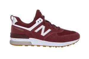 New Balance ML574 Herren Classic Sneaker Rot Schuhe – Bild 2