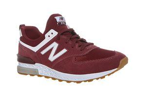 New Balance ML574 Herren Classic Sneaker Rot Schuhe