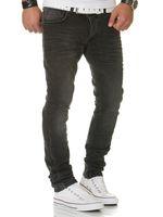 FRANZ HANNA Herren Jeans Slim Fit Schwarz – Bild 3