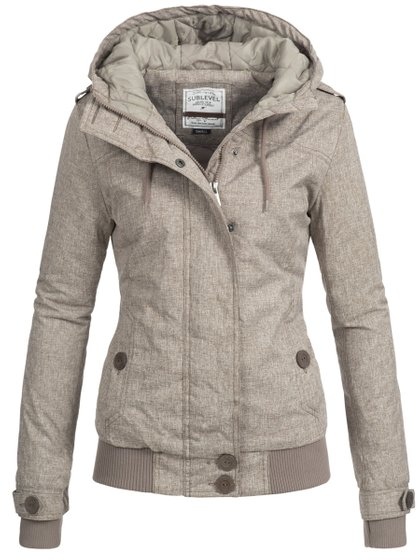 Sublevel Damen Winterjacke Braun
