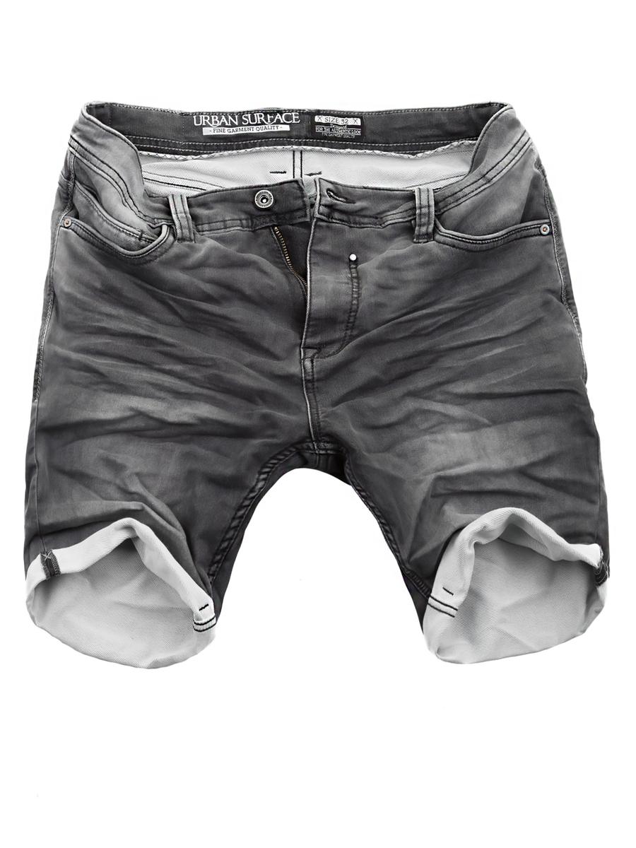815c449b81655a Urban Surface Herren Jogg Jeans Shorts Grau