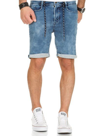 Urban Surface Herren Jogg Jeans Shorts Blau