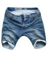 Urban Surface Herren Sweat Denim Hose Shorts Blau